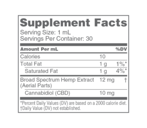 Supplement Nutrition Facts